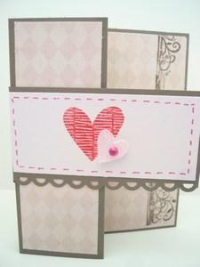 Vintage tri-fold hearts