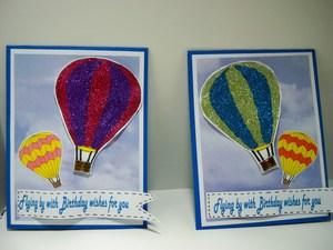 Hot air balloon bday card