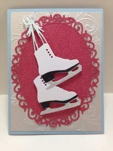 Ice skates front