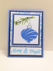 blue ornament card